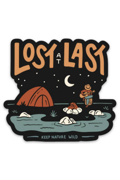 LOST AT LAST STICKER