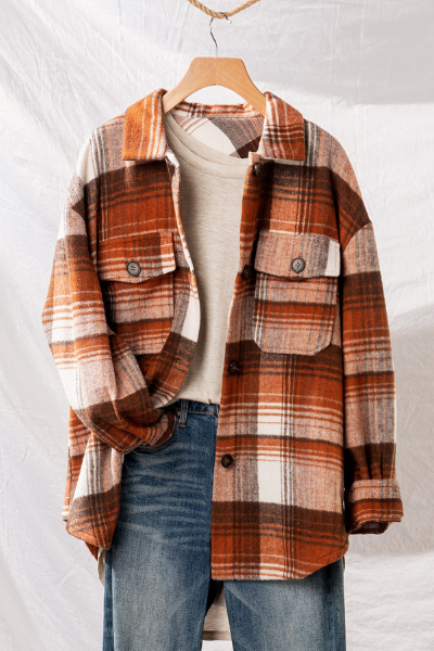 BRANSON FLANNEL - BROWN