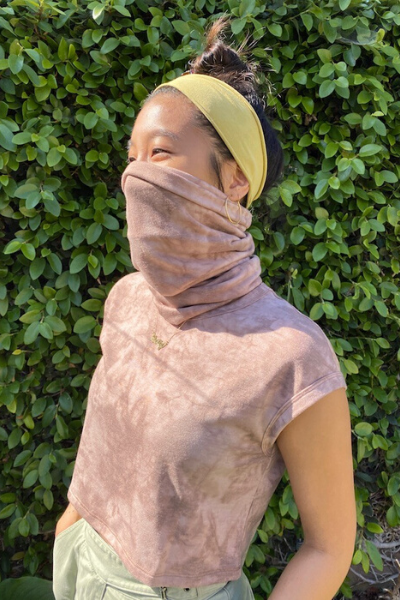 MULTI-USE GAITER - MAUVE TIE DYE