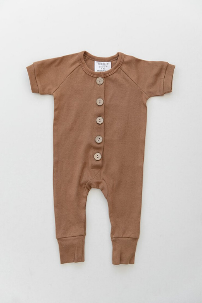 POPLAR BUTTON ROMPER - HONEY