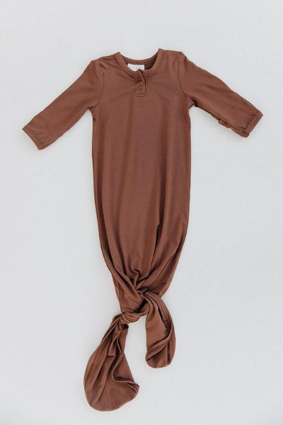 ELM KNOT GOWN - RUST