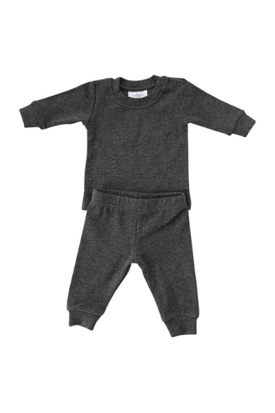 LINDEN RIBBED SET - CHARCOAL