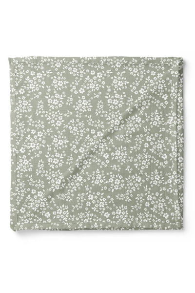 WHIMSY FLORAL SWADDLE - SAGE GREEN