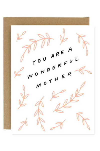 WONDERFUL MOTHER CARD