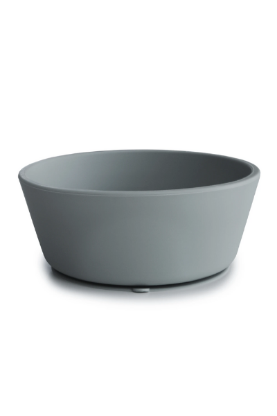 SILICONE SUCTION BOWL - STONE
