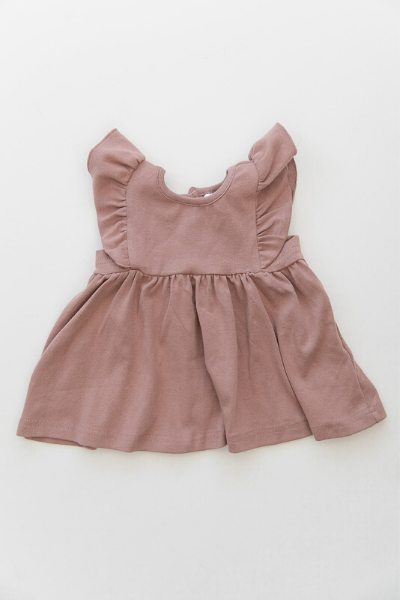 MEADOW RUFFLE DRESS - BLUSH