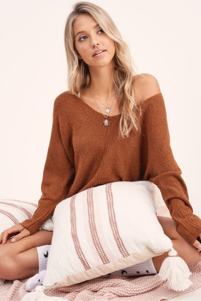 BLAKE SWEATER - RUST
