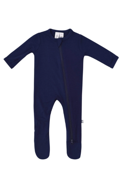 GROVE ZIP FOOTIE - NAVY