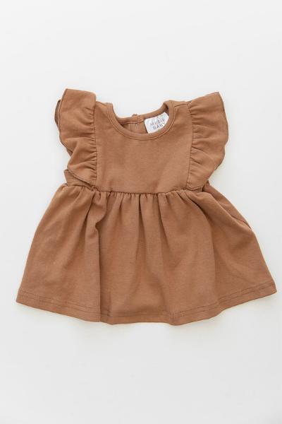 MEADOW RUFFLE DRESS - HONEY
