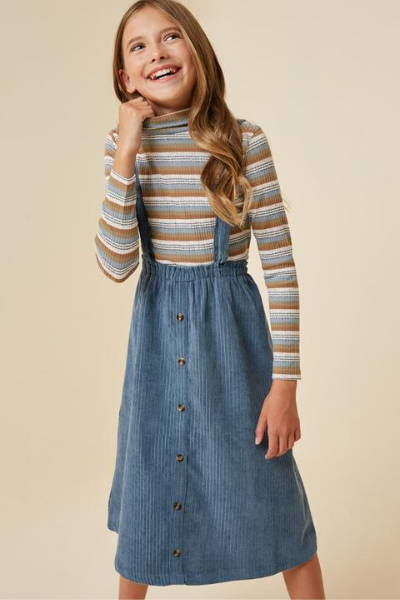 ABIGAIL OVERALL DRESS - GIRLS