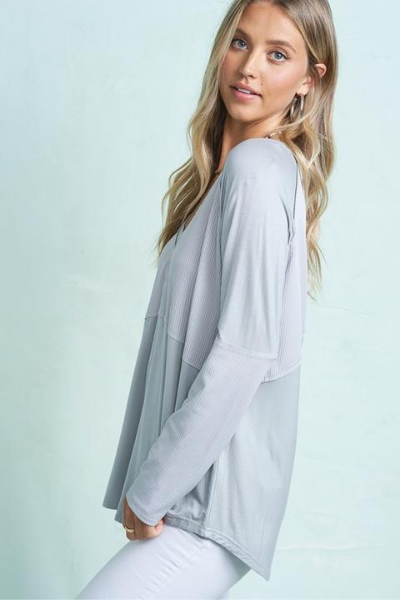 ASHTON TOP - GREY