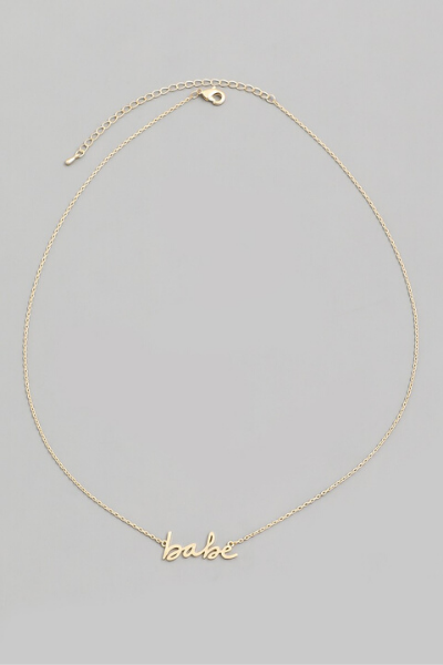 BABE NECKLACE - GOLD