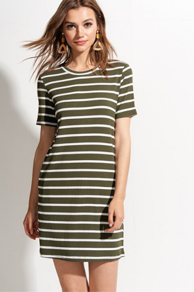ONE + ONLY DRESS - OLIVE