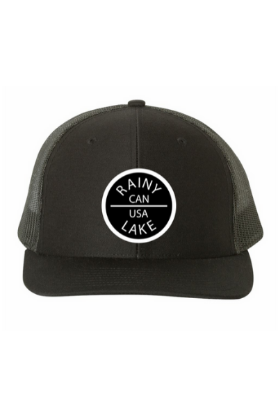 RAINY LAKE CIRCLE PATCH SNAPBACK - BLACK