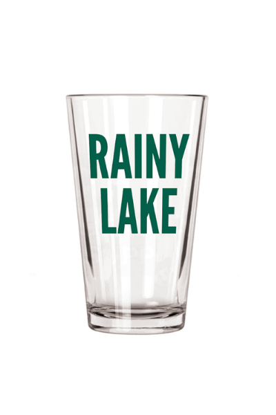 RAINY LAKE PINT GLASS - FOREST GREEN