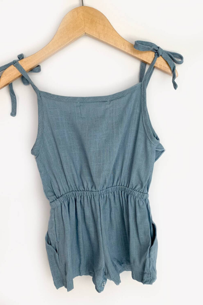 LOLA ROMPER - MEDIUM BLUE