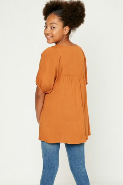MAGGIE EMBROIDERED TOP - GIRLS