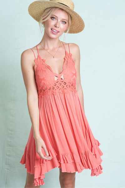 BREEZY DRESS - CORAL (small)
