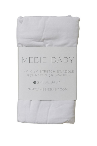 WHITE STRETCH SWADDLE