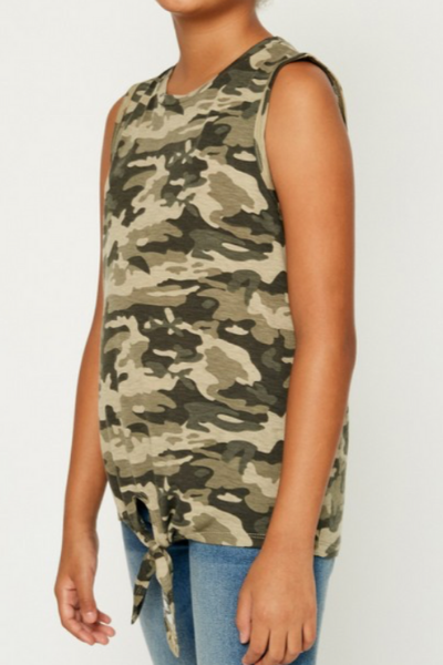 AVERY CAMO TOP - GIRLS