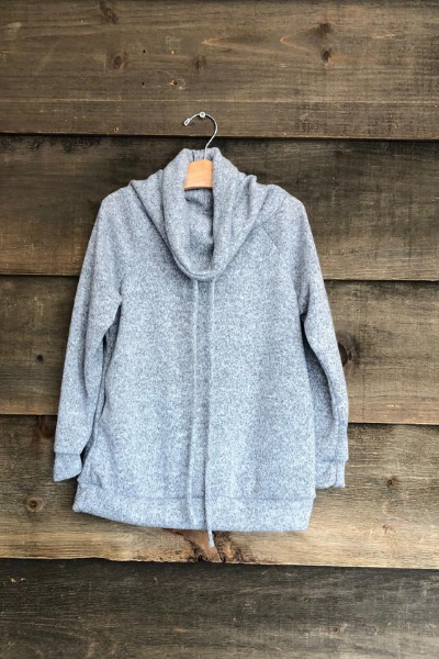 IVY COWL NECK - GIRLS - GREY