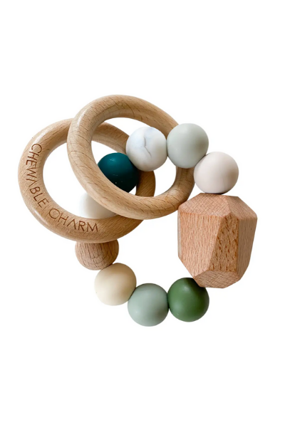 HAYES SILICONE + WOOD TEETHER RING - WINTER