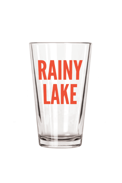 RAINY LAKE PINT GLASS - BURNT ORANGE