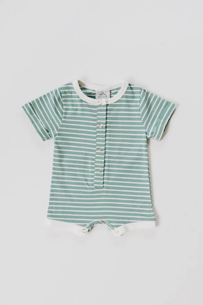 SAWYER ROMPER - OCEAN STRIPE