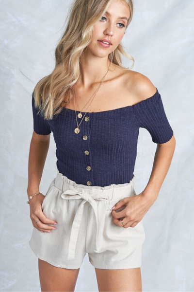 SUNKISSED TOP - NAVY