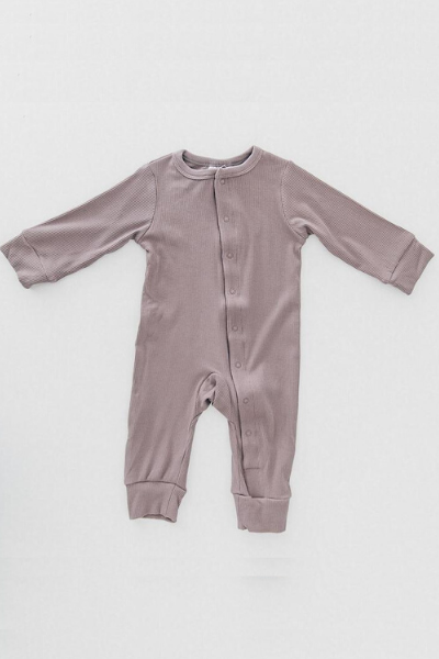 FERN RIBBED FOOTLESS ONE-PIECE - DUSTY PLUM