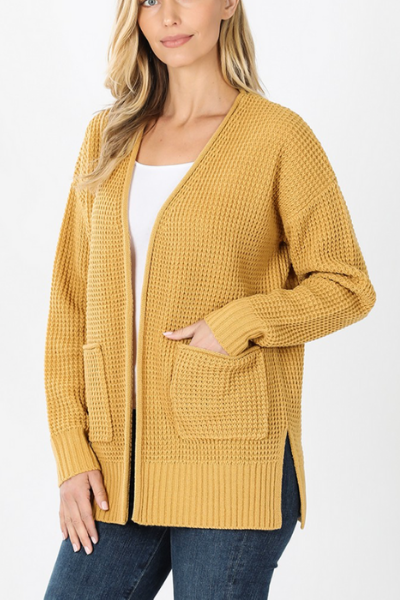 LIKE YOU A WAFFLE LOT CARDIGAN