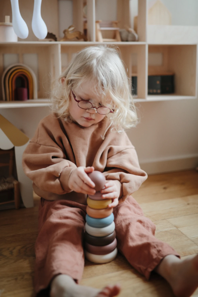 STACKING RINGS TOY - RUSTIC