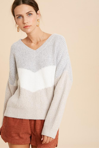 GIANNA SWEATER - CLOUD