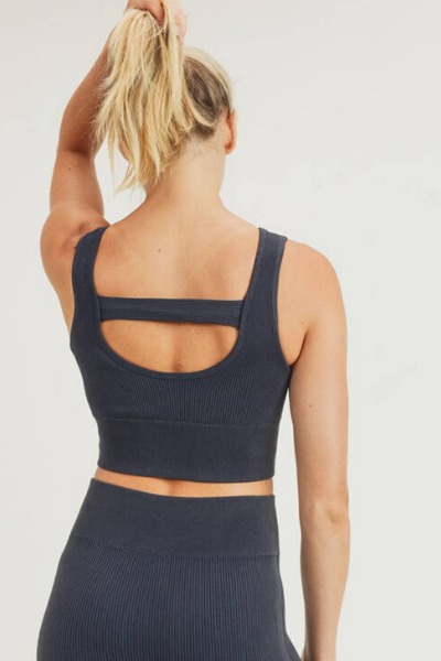 SUTTON RIBBED SPORTS BRA
