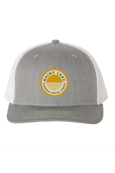 BRULE SNAPBACK (EMBROIDERED) - HEATHER GREY/WHITE