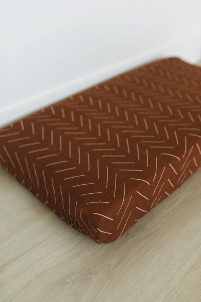 RUST MUDCLOTH CHANGING PAD COVER