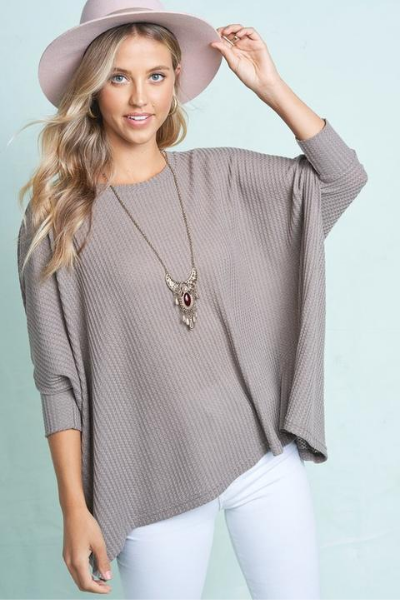 CAMILLA TUNIC TOP - MOCHA