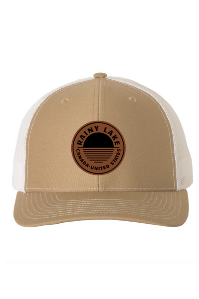 BRULE SNAPBACK (LEATHER) - KHAKI/WHITE