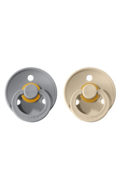 BIBS PACIFIER (2 PACK) - CLOUD + SAND