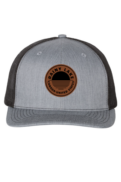 BRULE SNAPBACK (LEATHER) - GREY/BLACK