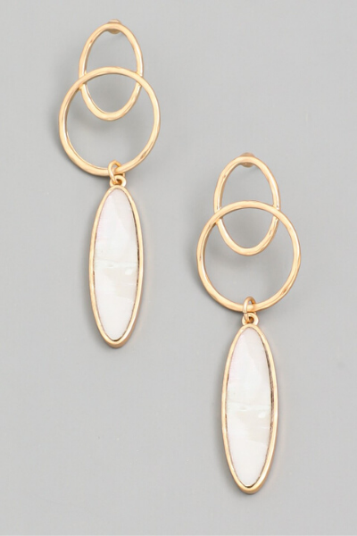PEARL OVAL EARRINGS