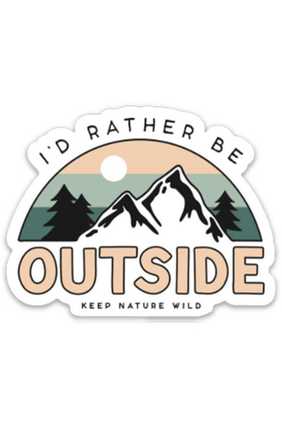 BE OUTSIDE STICKER