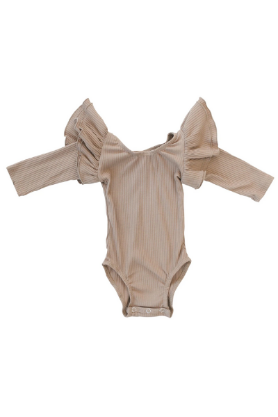 REMY 3/4 SLEEVE LEOTARD - TAN