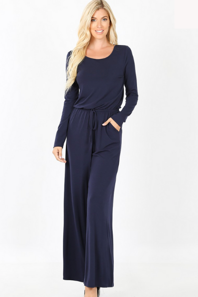 BELIEVE IN LOVE JUMPSUIT - NAVY