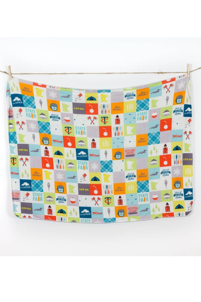 MINNESOTA PATCHWORK SWADDLE