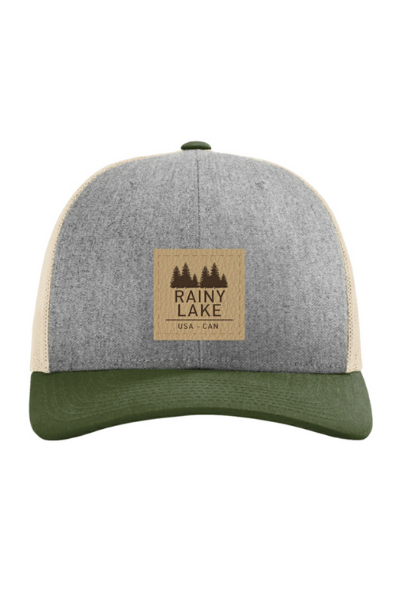 RAINY LAKE LEATHER PATCH SNAPBACK - GREY/GREEN