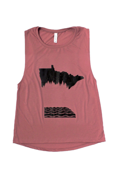 WOMENS MN MAUVE MUSCLE TANK - PRE-ORDER