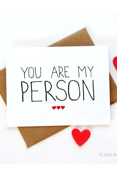 LOVE - YOU ARE MY PERSON