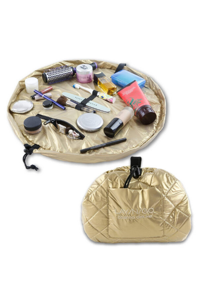 "COSMO MAKE UP BAG (20"") - GOLD"