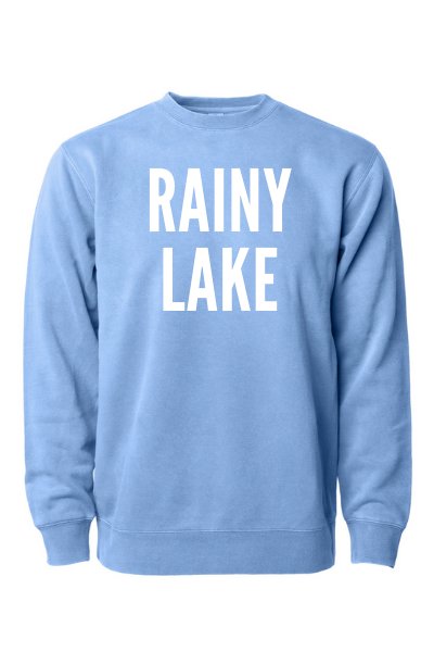 RAINY LAKE CREW - LIGHT BLUE